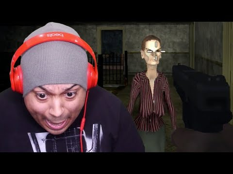 GRANNY'S STEPSISTER'S COUSIN TRYNA GET ME!!  [HORROR GAMES!]