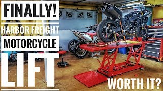 I bought the HARBOR FREIGHT Motorcycle LIFT!