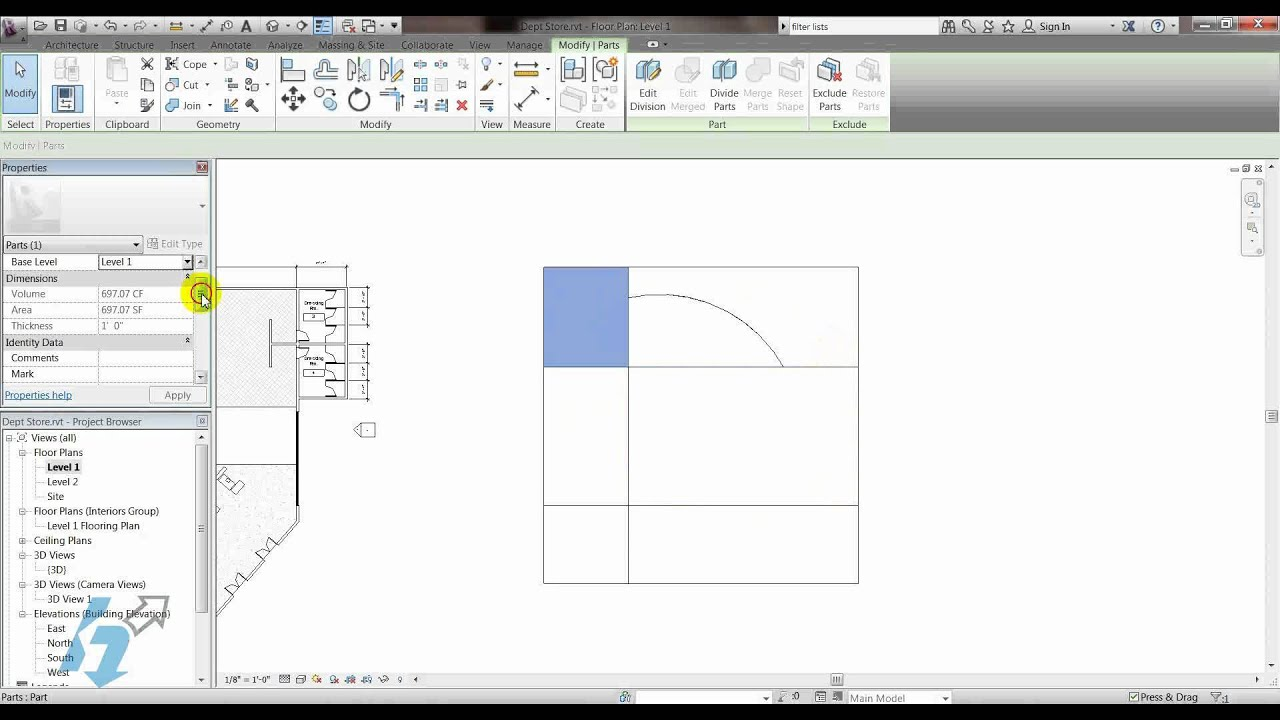 Revit Tech Tip Flooring Finishes Using Parts Tool Youtube