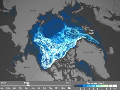 animation of maps of sea ice age classification from 1987 through mid august 2012