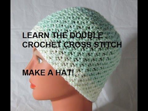 Make A Hat Double Crochet Cross Stitch Pattern Youtube
