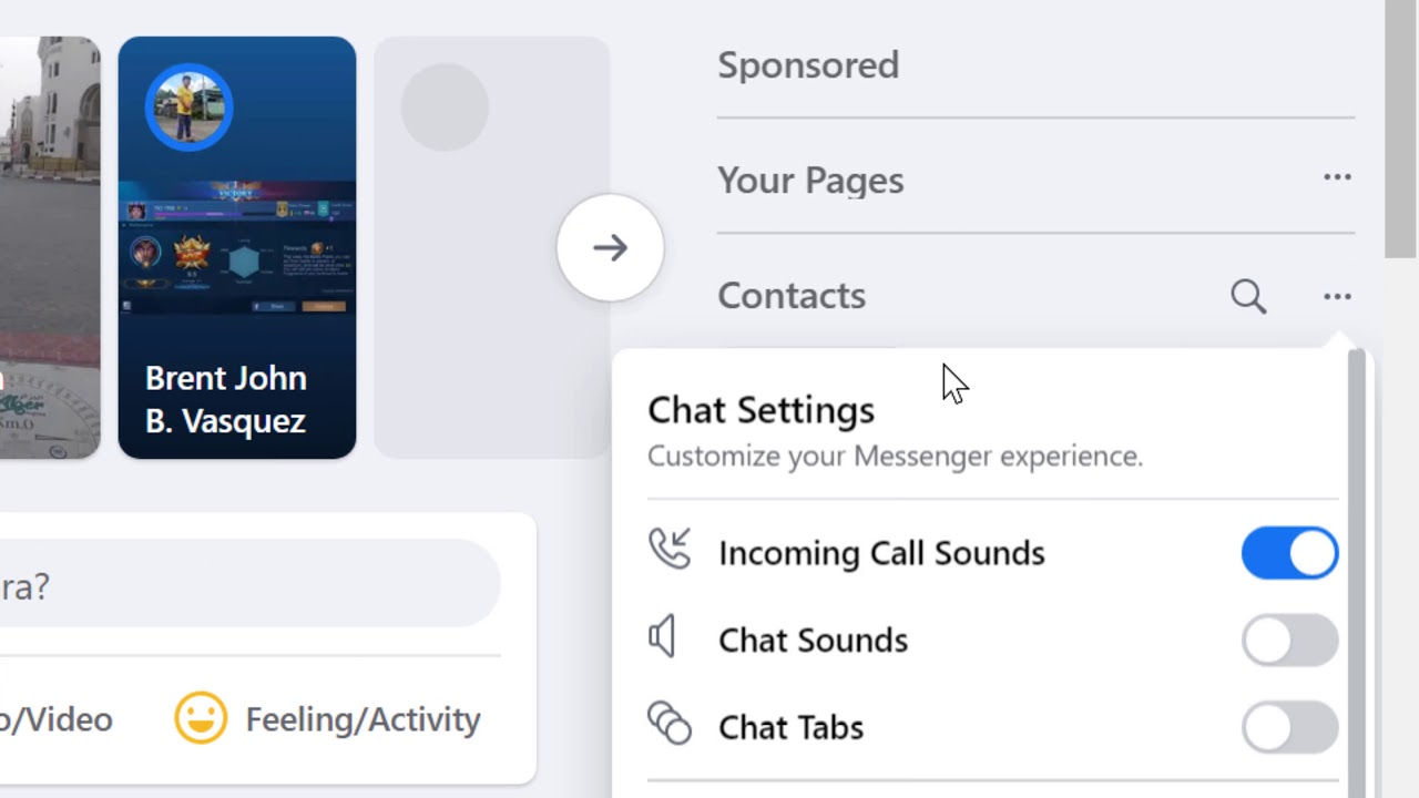 how to turn off voice and video call on Facebook - YouTube