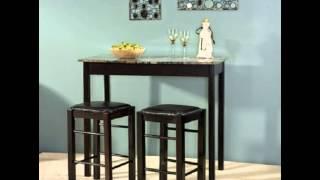 New! Linon 3-piece Espresso Tavern Dining Room Set Accent Piece Bistro Counter
