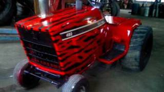 ih 482 3 cyl turbo diesel pulling lawnmower