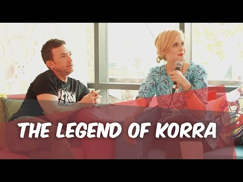 The Legend of Korra : Stars Janet Varney and David Faustino at ComicCon 2014