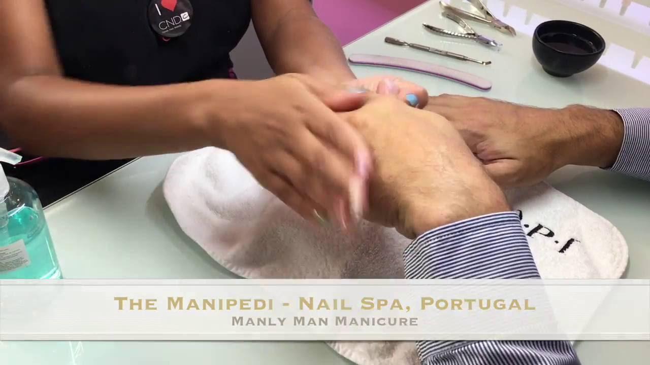 Manly Man Mani @ The Manipedi Nail Spa - YouTube