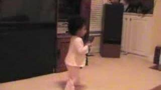Arielle, 21 months old, singing High School Musical song