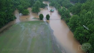 05-04-2021 Birmingham, AL - Flash Flood Emergency- Samford Intramural Fields Flooded - Drone