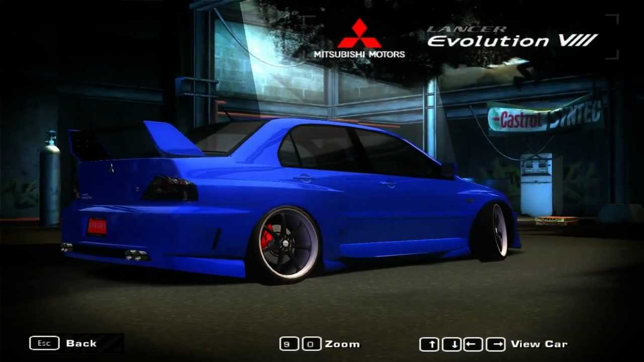 need for speed most wanted 2005 mitsubishi lancer evolution viii stance youtube