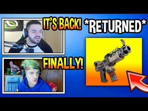 "STREAMERS REACT TO ""TAC SMG"" BACK IN FORTNITE! *BUFFED* Fortnite FUNNY Moments thumbnail"