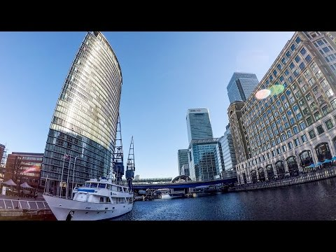 London. A Walk from Limehouse Basin to Canary Wharf Along the River