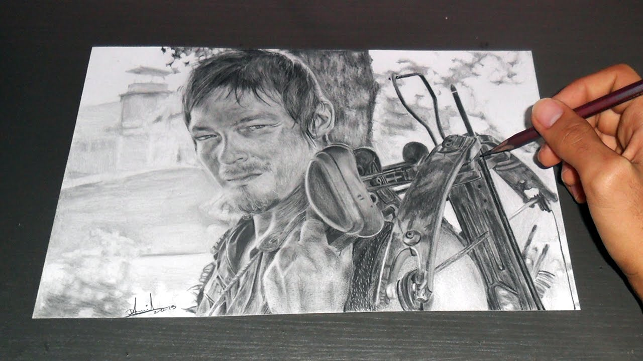 Desenhando Daryl Dixon The Walking Dead By Daniel Souza Youtube