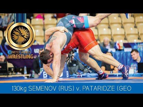 GOLD GR - 130 kg: S. SEMENOV (RUS) df. Z. PATARIDZE (GEO) by VPO1, 5-3