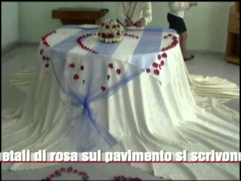 Allestimento tavolo degli sposi prova finale youtube