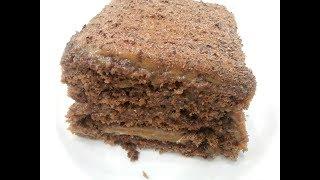 25 минут и торт готов,вместе с выпечкой.Торт без раскатки коржей.Торт шоколадно - медовый.Honey Cake