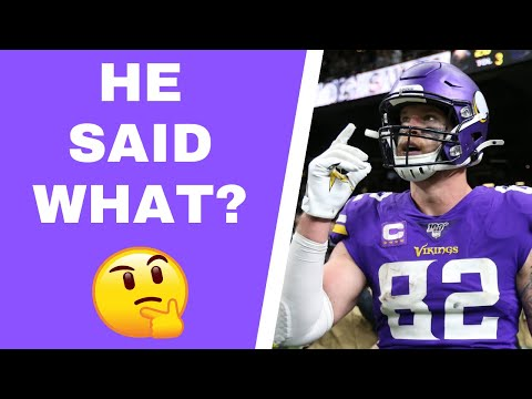 Kyle Rudolph feels underutilized by Minnesota Vikings