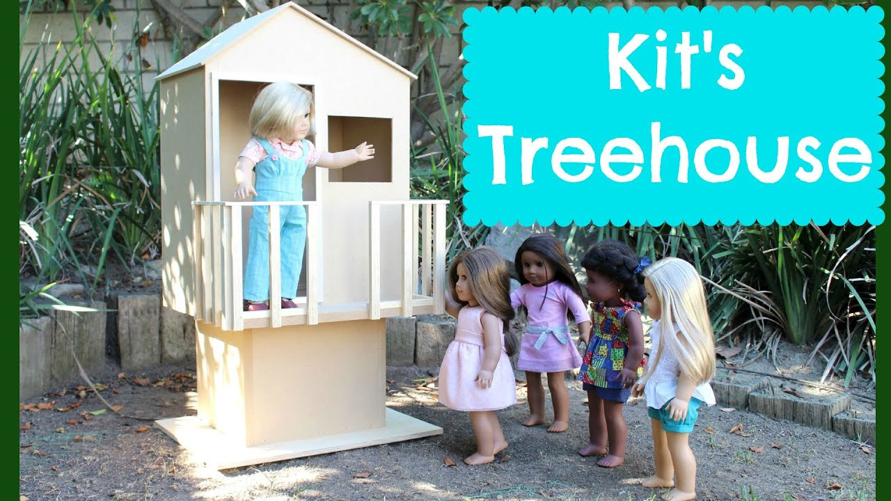 American girl doll kit 39 s treehouse playset review youtube for American kit homes