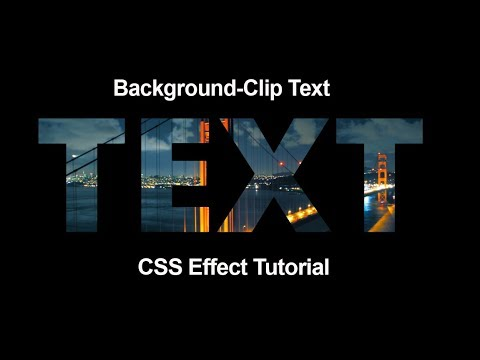 background-clip text effect-CSS Tutorial -HTML&CSS - YouTube