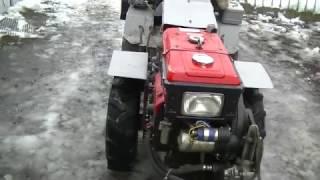 мини трактор переломка 4*4 из мотоблока  FORTE (часть 2)