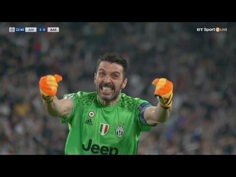 Gianluigi Buffon  Save - Juventus vs Barcelona 2-0 - Champions League 11/04/2017 HD