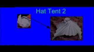 Origami - Hat Tent 2 (designed By Me! & Not A Tutorial)