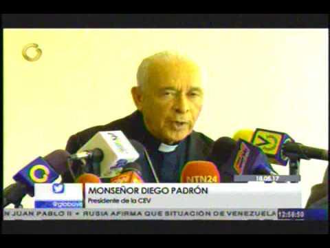 Monseñor Diego Padrón lee documento de la CEV
