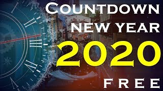 Countdown New Year 2020 Glass Transparent 4K quality Citys Skylines