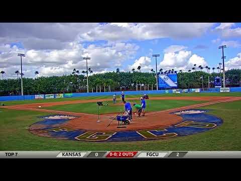 FGCU vs. Kansas Game 3 Baseball Live Stream