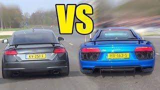 AUDI TT RS vs AUDI R8 V10 PLUS  😱🔥TT RS WON?😱🔥
