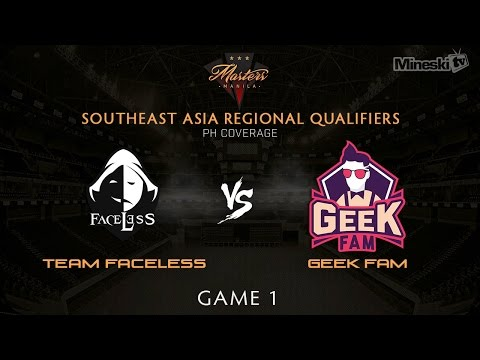 Team Faceless vs Geek Fam | The Manila Masters | SEA Regional Qualifier | Game 1