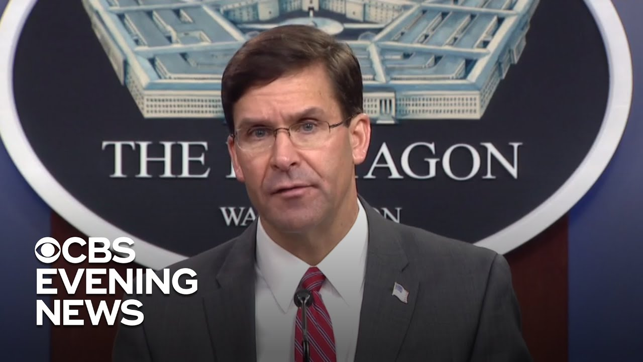 Mark Esper Breaks With Trump on Using Troops Against Protestors