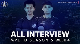 MPL ID 5 All Interview Week 4 - OURA kelihatan PESIMIS! RRQ & BTR MEMANAS! |Sports Pilihan Indonesia