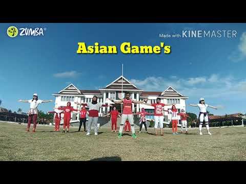 Meraih Bintang - Via Vallen (official Song Asian Game's)||Zumba Coreo By ZIN Faiz (Pinrang)