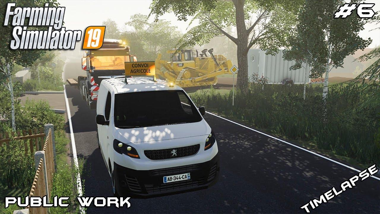 Starting new build site | Public Work on Geiselsberg | Farming Simulator 19 | Episode 6