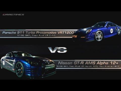 Porsche 9ff GT3 RS vs 911 Turbo Protomotive 1200 vs GT-R AMS Alpha 12+