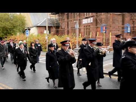 Bellshill Salvation Army Band  Remembrance Day march 2016
