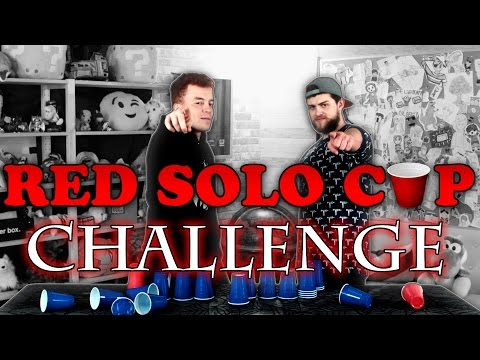 The RED SOLO CUP CHALLENGE! w/ Red and Preston!