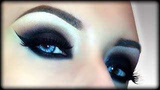 Sexy Vampire / Black Widow / Zombie / Witch - Black Smokey Eyes - Halloween Makeup Tutorial