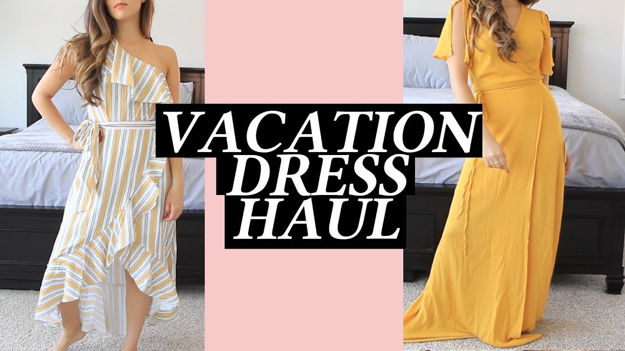 e34185cb72e Lulu s Haul  Vacation Dresses for Italy Try-On Haul - YouTube