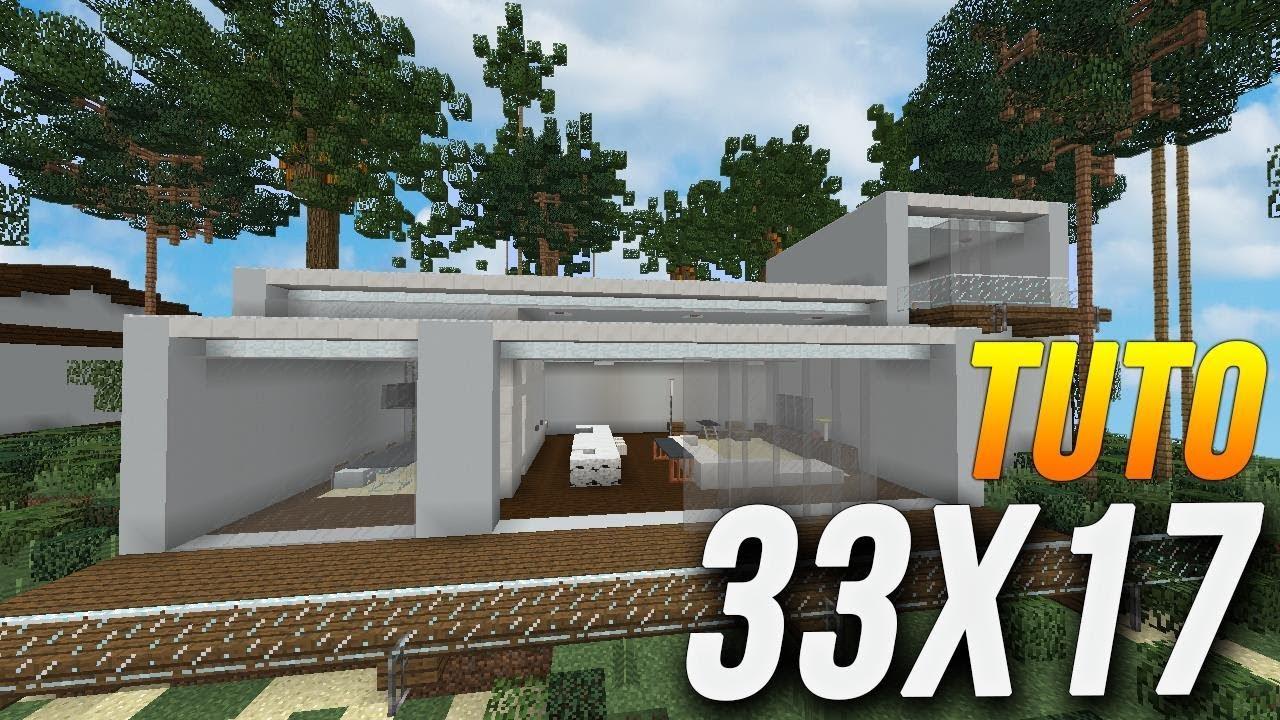 Minecraft tuto construction maison moderne en 33x17 for Minecraft tuto construction