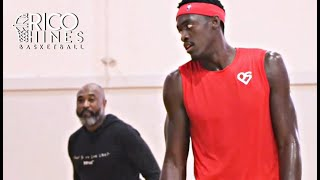 Most Improved Player & NBA Champion Pascal Siakam Workout with Rico Hines
