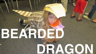HOW TO MAKE A KID LIZARD COSTUME || BEARDED DRAGON