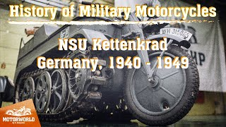 NSU Kettenkrad HK 101 SdKfz 2 | 1944, Germany. Review & test-drive.