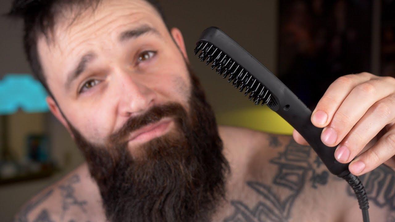 Trying out the Kuschelbar Beard Straightening Heat Brush