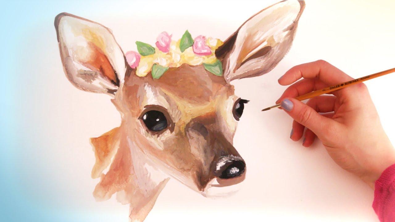 Watercolor Animal Paintings - YouTube