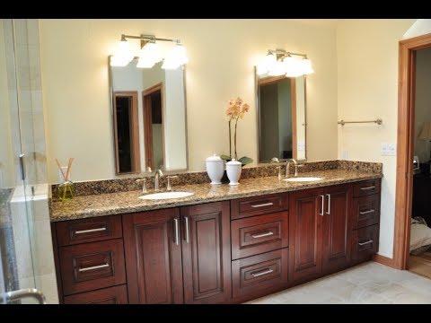 Dark Wood Bathroom Vanity Youtube
