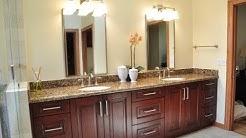 Dark Wood Bathroom Vanity