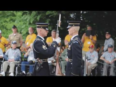US Army Honor Guard Rifle Inspection with close-up audio [EXCLUSIVE]