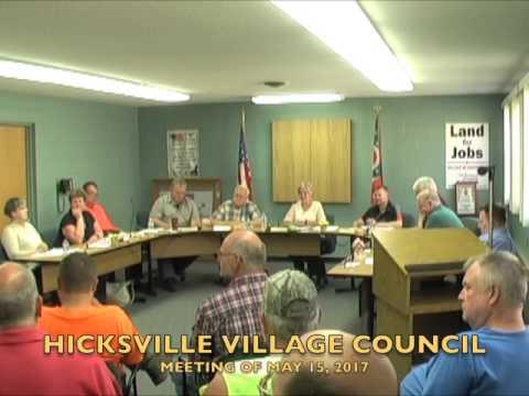 Hicksville Village Council Meeting 5-15-17