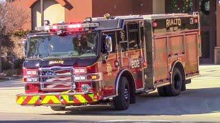 Rialto Fire Dept. Medic Engine & Medic Ambulance 202